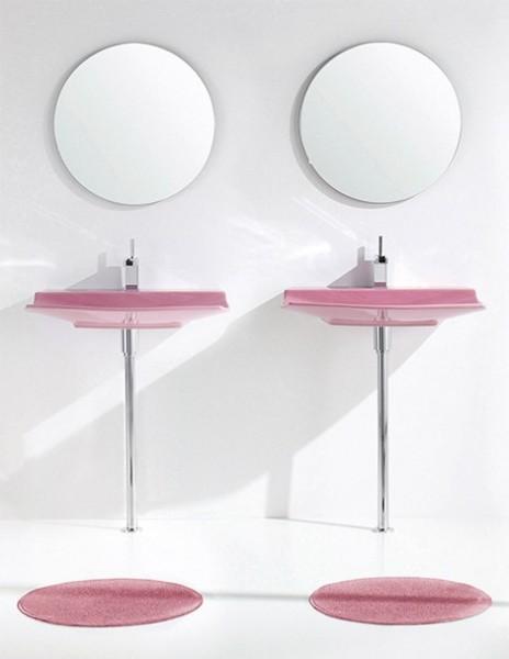 Modern Pink Bathroom. Pink Bath Towels   Stones Finds