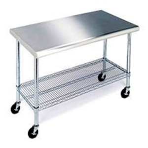 Stainless Steel Kitchen Cart • Stones Finds