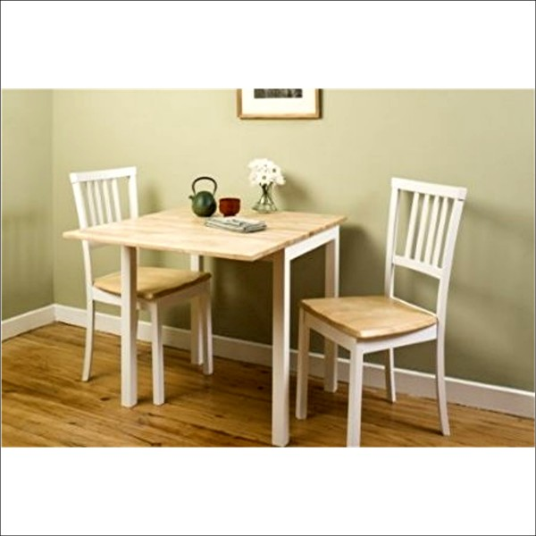 Dark wood small kitchen table for Kitchen dining sets for small kitchens