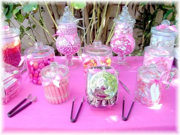 Baby shower centerpiece ideas stones finds - Pink baby shower table decorations ...
