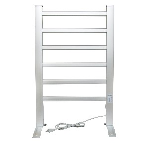 Home Fashion 6-Bar Freestanding Towel Warmer, Drying Rack