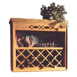 lattice wood wine rack for the wall