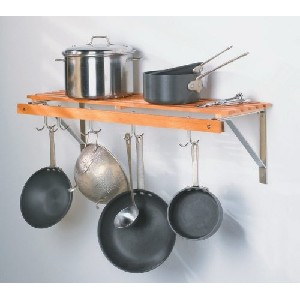 Saucepan rack wall mounted
