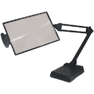 Reading magnifier w clamp and desktop base 4x