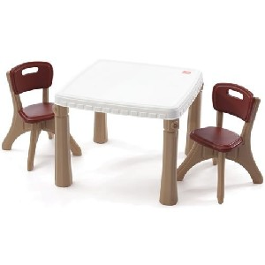 Childrens plastic table and chairs stones finds - Set table plastique ...