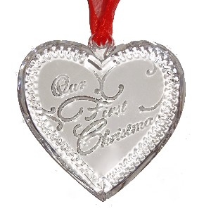 Waterford Crystal Our First Christmas Ornament LByfU795