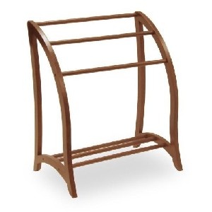 Winsome Towel Rack Closet Organizer in Antique Walnut