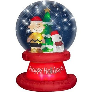 christmas inflatable snow globes - Disney Christmas Inflatables