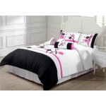 Pink Black and White Bedding