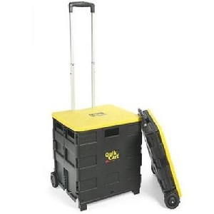 Quik Cart Rolling Hand Cart with Lid