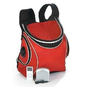 Red Backpack Cooler Bag with Speakers