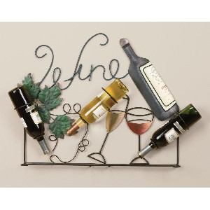 Wine Rack Wall Art for Bottles and Glasses