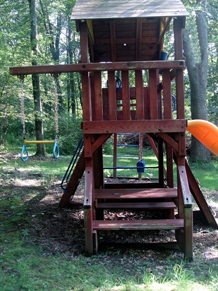 Backyard Swingset and Fort