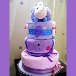 DIY Eeyore Diaper Cake