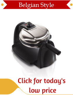 Hamilton Beach Belgian Waffle Maker with Removable Plates