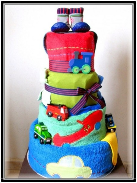 Homemade Boy Diaper Cake