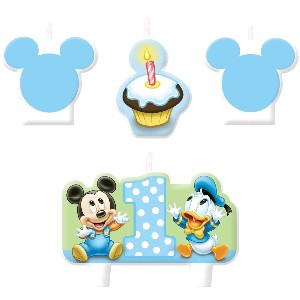 Mickeys 1st Birthday Molded Candles