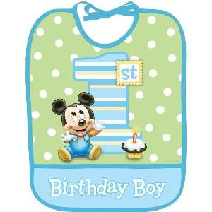 Disney Mickey Mouse 1st Birthday Bib