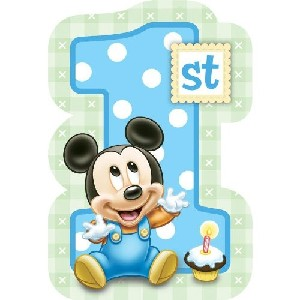 Baby Mickey Mouse 1st Birthday Disney Invitations 8 Count
