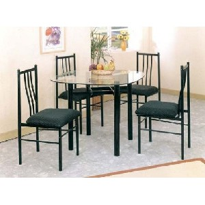 Black Glass Top Table Set Under 200