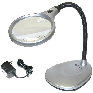 Carson LM 20 2X LED Stand and Magnifying Glass