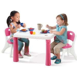 Childrens Plastic Table and Chairs