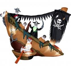Inflatable Halloween Pirate Ship