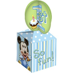Baby Mickey 1st Birthday Treat Boxes