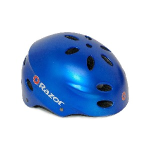 Razor Aggressive Youth Multi Sport Helmet in Satin Blue