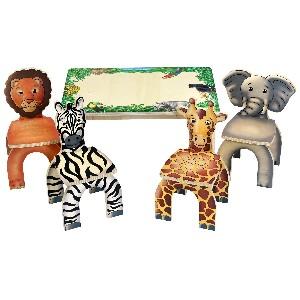 Safari Print Table and Animal Chairs