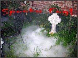 Spooky Graveyard Scene with Fog