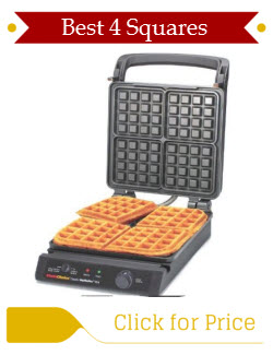 Chefs Choice 854 Classic Pro 4-Square Thin Waffle Maker