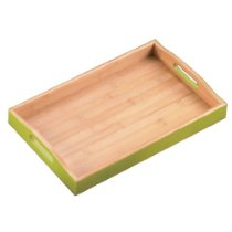Creative Home 15 by 9-Inch Bamboo Serving Tray