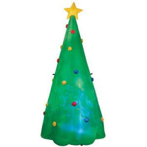 Gemmy Kaleidoscope Color Changing Inflatable Tree