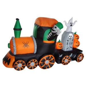 Inflatable Skeleton Graveyard Train