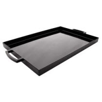 Large Black Ottoman Serving Tray