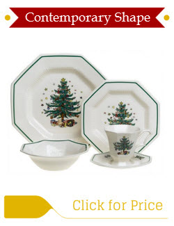 Nikko Ceramics Christmastime Tree Dinnerware