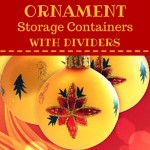 Ornament Storage Box with Dividers