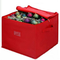 Ornament storage box with dividers stones finds red ornament organizer box and dividers solutioingenieria Choice Image