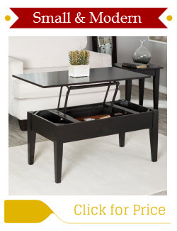 Gentil Small Modern Lift Top Coffee Table