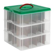 SnapWare Plastic Ornament Box with Dividers