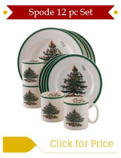Spode Christmas Tree Dinnerware 12pc Set