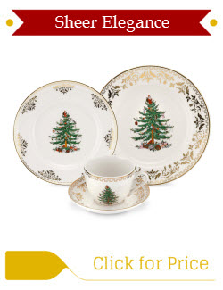 Spode Christmas Tree Gold Place Setting