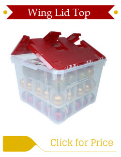 Wing Lid Plastic Ornament Storage and Dividers