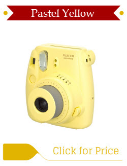 Yellow Fujifilm Instax Mini 8 Camera
