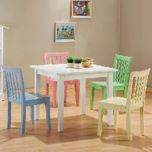 5pc Kids Set Play Room Table & Chairs