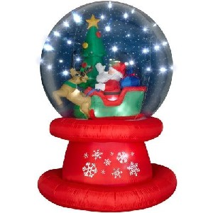 6 Foot Airblown Christmas Snow Globe Decoration