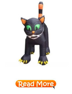 Animated Inflatable Giant Black Cat