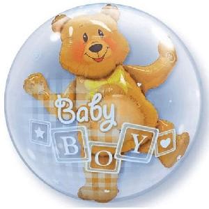 Baby Boy Bear Bubble Balloon 24