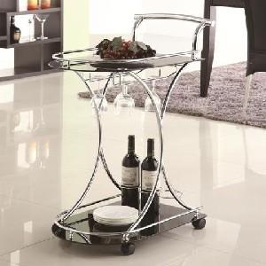 Beverage Server Cart on Wheels